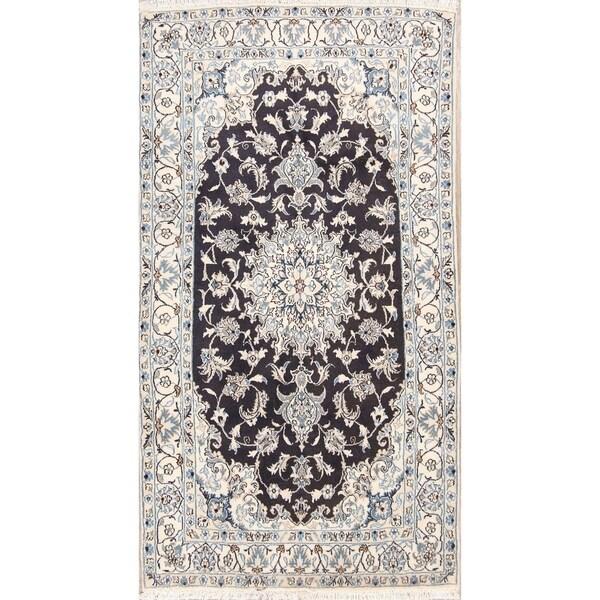 "Classical Hand Made Wool Nain Isfahan Persian Traditional Area Rug - 7'0"" x 3'10"""