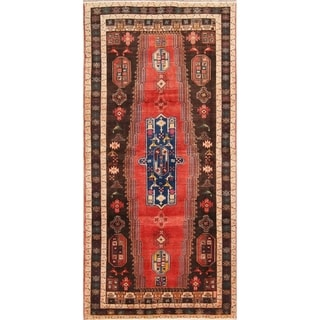 "Zanjan Handmade Vintage Traditional Persian Wool Rug - 10'3"" x 4'1"" runner"