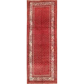 """Botemir Handmade Vintage Traditional Persian Oriental Wool Rug - 10'0"""" x 3'7"""" runner"""