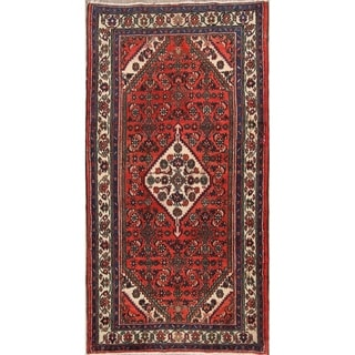 "Hamedan Handmade Vintage Persian Traditional Wool Rug - 7'9"" x 4'0"" runner"