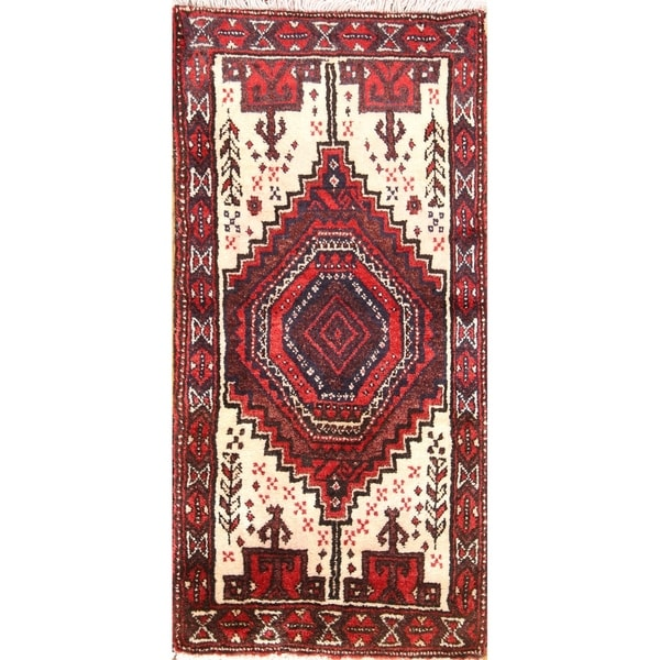 "Handmade Wooen Classical Balouch Persian Traditional Rug - 2'11"" x 1'4"" runner"