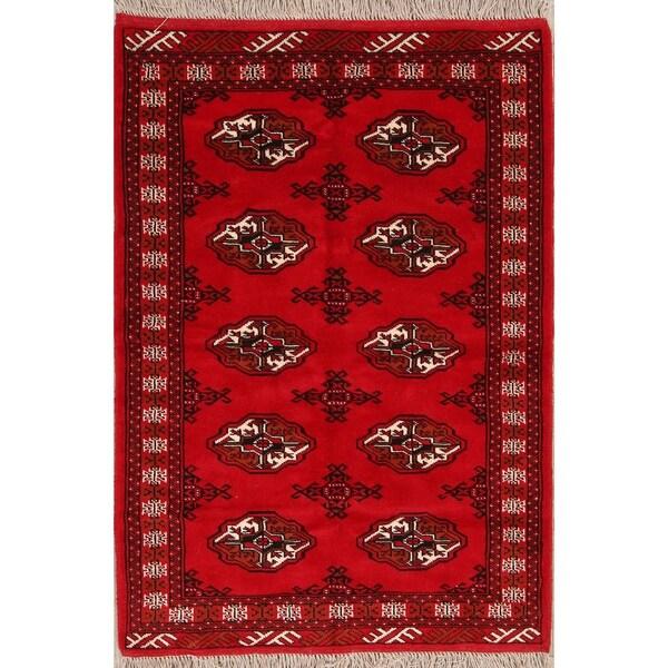 "Classical Hand Made Balouch Bokhara Turkoman Persian Area Rug Wool - 4'10"" x 3'4"""