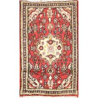 "Handmade Woolen Tribal Hamedan Persian Area Rug - 2'5"" x 1'6"""