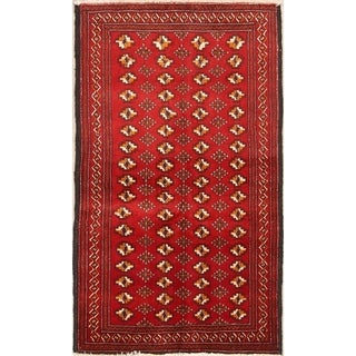 "Classical Balouch Hand Made Persian Traditional Rug Wool - 5'6"" x 3'3"" runner"