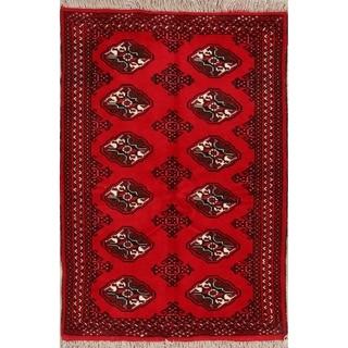 "Balouch Turkoman Bokhara Hand Made Persian Area Rug Small - 4'10"" x 3'4"""