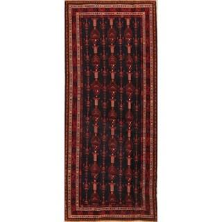 "Balouch Handmade Vintage Oriental Traditional Persian Wool Rug - 9'8"" x 4'2"" runner"