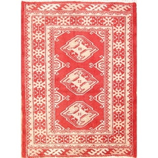 "Bokhara Handmade Wool Turkoman Persian Traditional Vintage Area Rug - 2'10"" x 2'2"""