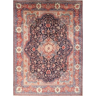 """Sarouk Hand Knotted Vintage Persian Traditional Area Rug Wool - 14'2"""" x 10'0"""""""
