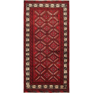 "Balouch Hand Knotted Vintage Persian Traditional Area Rug Wool - 7'2"" x 3'6"""
