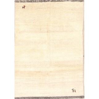 "Hand Made Traditional Gabbeh Shiraz Persian Modern Area Rug Wool - 4'9"" x 3'4"""