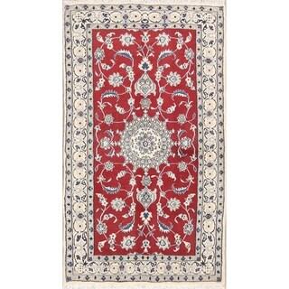 "Classical Hand Made Wool Nain Isfahan Persian Traditional Area Rug - 6'7"" x 3'10"""