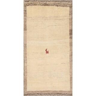 "Handmade Oriental Little Animal Nomad Gabbeh Shiraz Persian Area Rug - 4'1"" x 2'7"""