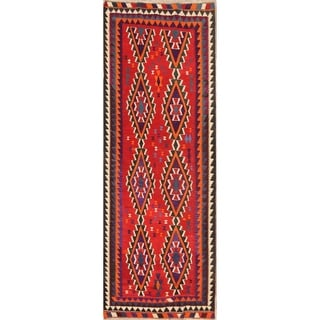 "Kilim Wool Qashqai Hand Woven Persian Traditional Vintage Area Rug - 9'5"" x 4'11"""