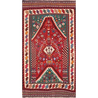 "Kilim Wool Kashkoli Hand Woven Vintage Persian Traditional Area Rug - 9'4"" x 5'5"""