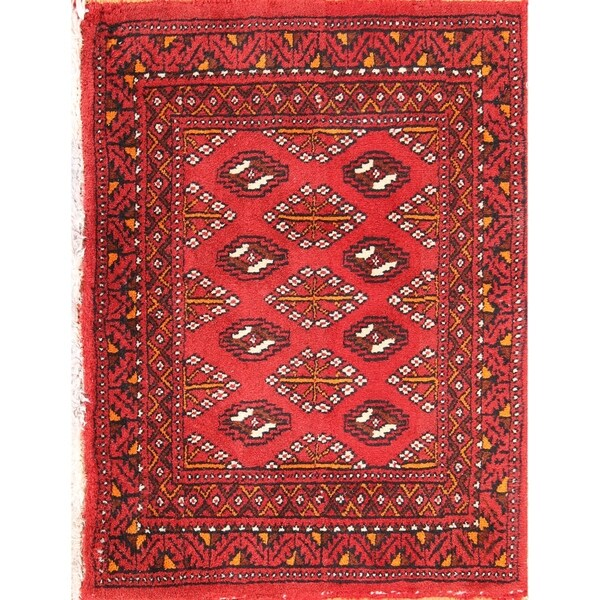 """Balouch Handmade Wool Oriental Persian Square Area Rug - 1'8"""" x 2'3"""" square"""