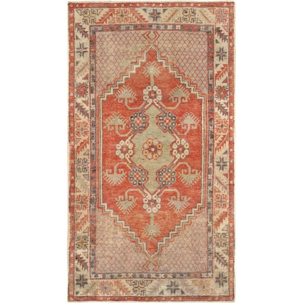 Pasargad Turkish Vintage Anatolian Hand-Knotted Wool Rug - 3' x 5'