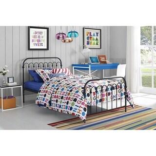 Novogratz Bright Pop Twin Metal Bed and Mattress