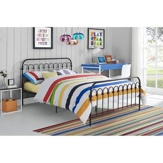 Novogratz Bright Pop Full Metal Bed and Mattress