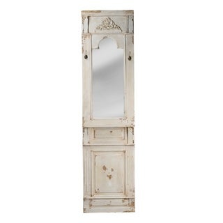 Classic Vintage Antique White Wall Mirror - Antique White - A