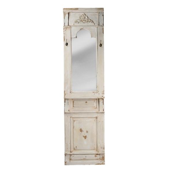 Classic Vintage Antique White Wall Mirror - Antique White - A