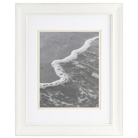 8x10 Wood Wall Frame with Double White Mat, Set of 3