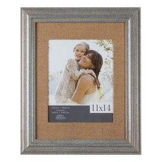 11x14 Wall Frame with Burlap Mat For 8x10 Picture, Set of 4