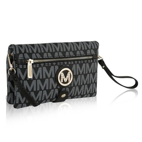 MKF Collection Multi Compartments Alaira Wristlet by Mia K.
