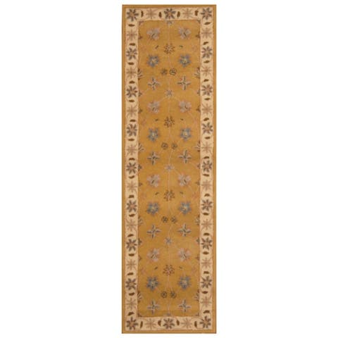 Handmade Wool Runner (India) - 2'4 x 8'1