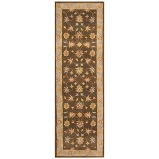 Handmade One-of-a-Kind Wool Runner (India) - 2'7 x 8'