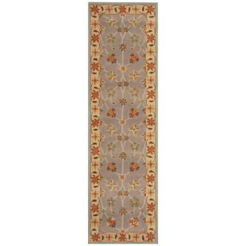 Handmade One-of-a-Kind Wool Runner (India) - 2'4 x 8'1