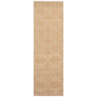 Link to Handmade One-of-a-Kind Trellis Wool Rug (India) - 2'7 x 8' Similar Items in Rugs