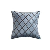 """""""Cut Velvet"""" Chequer Patterned Accent Pillow (18-in x 18-in)"""