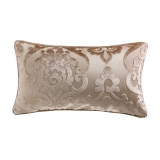 """Cut Velvet"" Fretwork Patterned Accent Pillow"