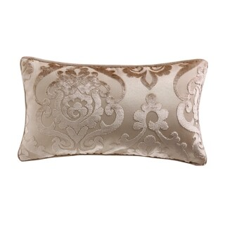 """""""Cut Velvet"""" Fretwork Patterned Accent Pillow (11-in x 20-in)"""