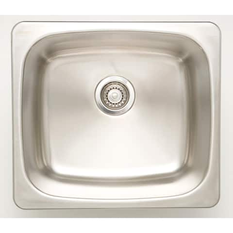 20-in. W CSA Approved Chrome Kitchen Sink With Stainless Steel Finish And 18 Gauge