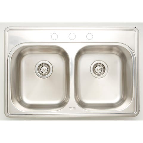 30.5-in. W CSA Approved Chrome Kitchen Sink With Stainless Steel Finish And 18 Gauge