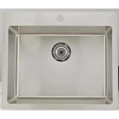 23.75-in. W CSA Approved Chrome Kitchen Sink With Stainless Steel Finish And 18 Gauge