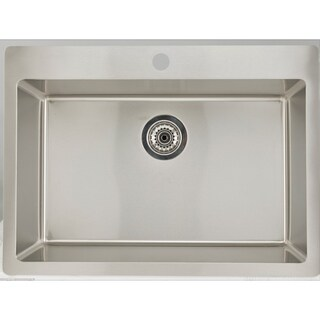 25-in. W CSA Approved Chrome Laundry Sink With Stainless Steel Finish And 16 Gauge - N/A
