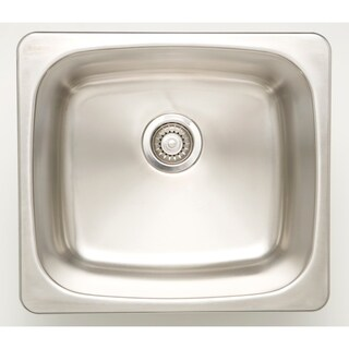 20-in. W CSA Approved Chrome Laundry Sink With Stainless Steel Finish And 18 Gauge