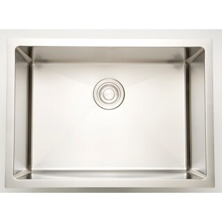 27-in. W CSA Approved Chrome Laundry Sink With Stainless Steel Finish And 16 Gauge - N/A