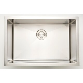 27-in. W CSA Approved Chrome Laundry Sink With Stainless Steel Finish And 18 Gauge