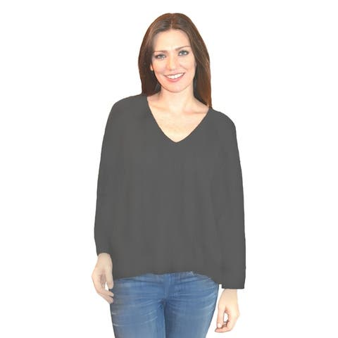 Cashmere Vee Neck Sweater