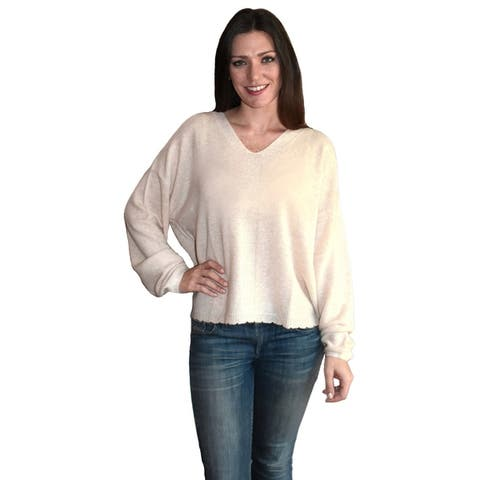 Cashmere Vee Neck Sweater