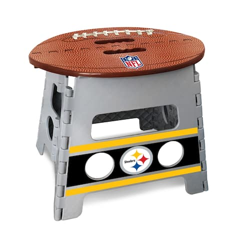 "NFL - Pittsburgh Steelers Folding Step Stool 14""x13"""