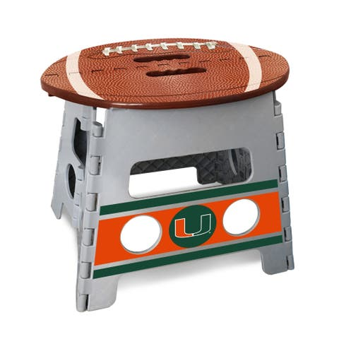 NCAA University of Miami Folding Step Stool