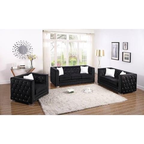 Best Master Furniture Upholstered 3 Pieces Living Room Set