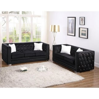 Best Master Furniture Upholstered 2 Pieces Sofa and Loveseat