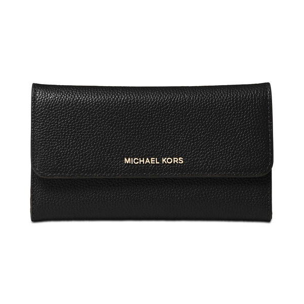 4bc7d525e821 Shop MICHAEL Michael Kors Pebble Leather Trifold Wallet - On Sale ...
