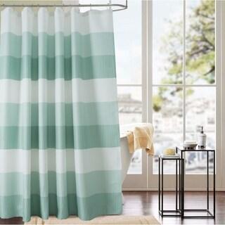 Glamor 70 x 72 in. Waffle Jacquard Shower Curtain