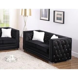 Best Master Furniture Upholstered Tufted Loveseat